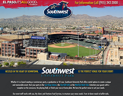 Web: Southwest University Ballpark Splash Page