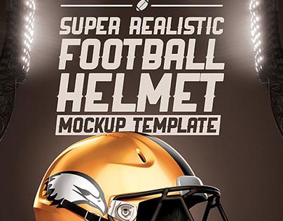 Realistic Football helmet Mockup