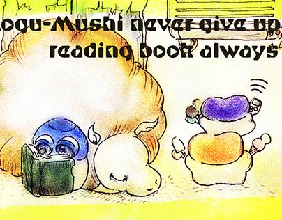 Miz Manga : Mog Never Give Up Reading Book Always