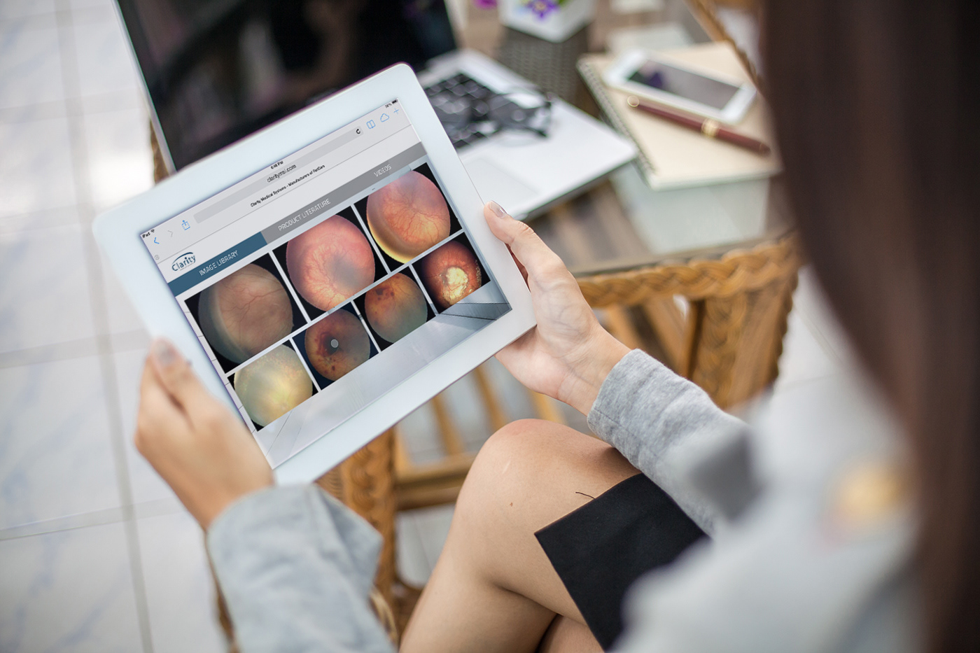 Clarity Medical Systems iPad Website