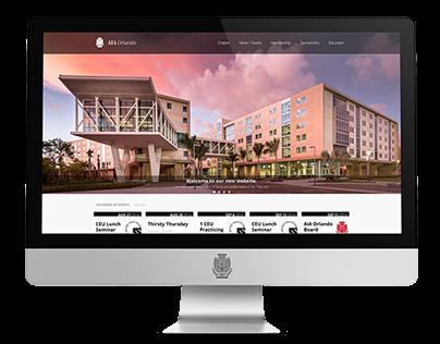 AIA Orlando Website Re-Design