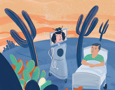 Cover Illustration for ACP Hospitalist