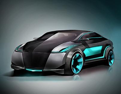 Sleek Concept Car