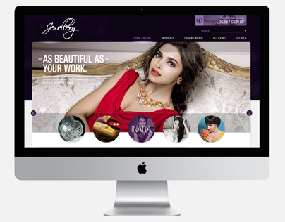Website design: Tanishq 2014