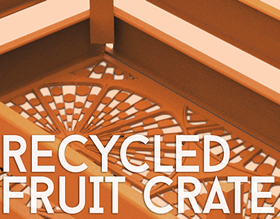 Recycled Plastic Fruit Crate for Ecoambiente