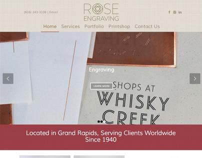 Rose Engraving