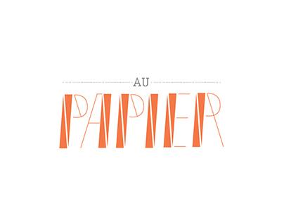 typeface Au Papier