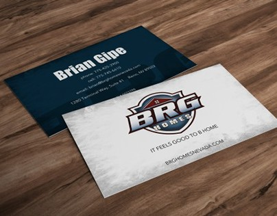 BRG Homes business cards