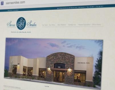 Sierra Smiles website design