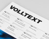 VOLLTEXT - Zeitung für Literatur