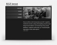 Web design for KGZ invest