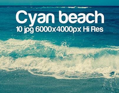 cyan beach