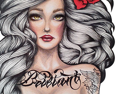 the girl with the Briliant Tattoo
