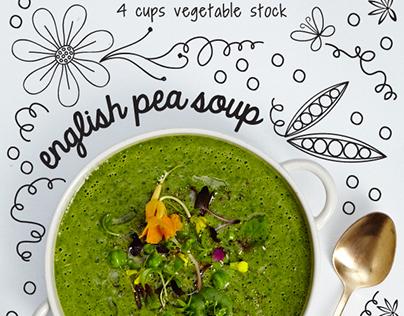 Springtime Vegetables Editorial Illustration