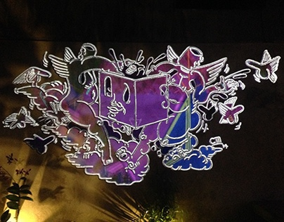Mural Projection Mapping