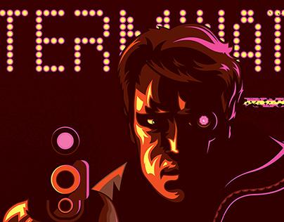 Terminator 1984 Vector Movie Poster