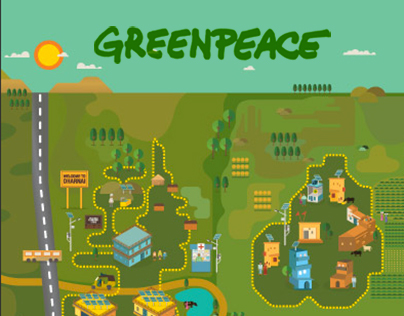 Dharnai Solar Grid Map for Greenpeace India