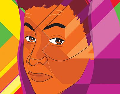 CALMzine X Rizzle Kicks Portrait Illustration