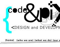 Code and Pixel Web Header Design