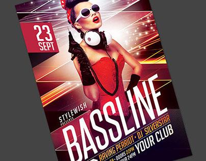 Bassline Flyer Template
