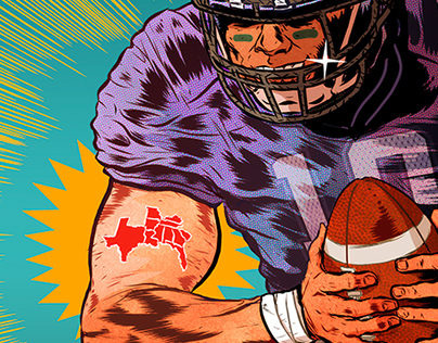College Football Time! Illustrations for ESPN
