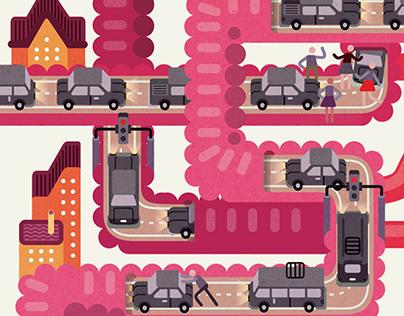 Illustrations for Saúde Magazine
