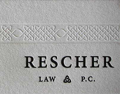 Rescher Law Branding/Identity