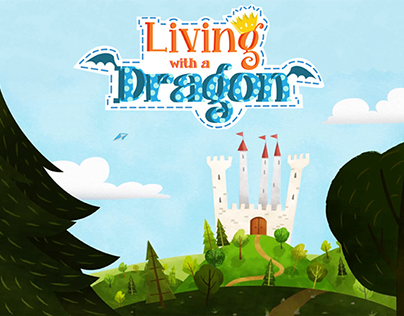 LIVING WITH A DRAGON Background Design