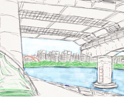 Under the Mapo Bridge and Han River Park