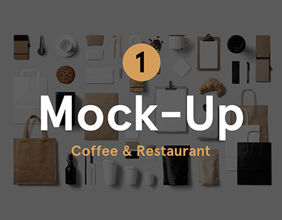 Coffee & Restaurant Stationery Mock-Up
