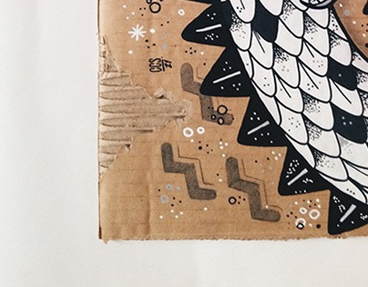 // Recycled Art on Paperboard