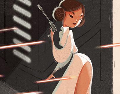 Princess Leia Shot Like a Girl