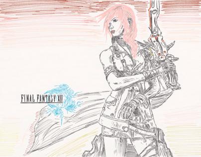Final Fantasy XIII Lightning Sketch