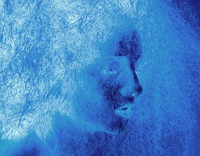 Electric Blue Lady