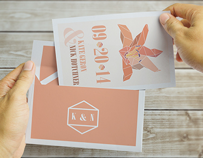 Geometric Themed Save the Date: K&N