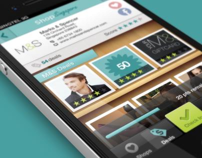 Shop Singapore iPhone application design