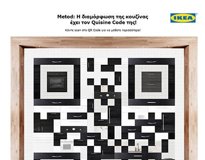 IKEA Metod kitchen QR code installation.
