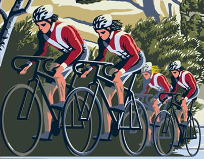 Posters in WPA style for proposed cycling ranch
