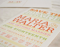 Hollow Serifa: Save the Dates Wedding Stationary