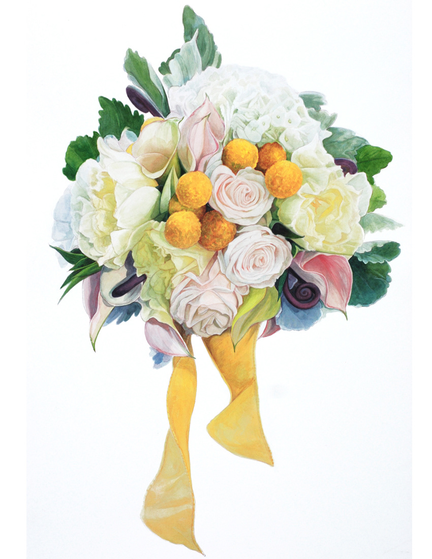 Shoots and Blooms, Bridal Bouquet and Floral Paintings