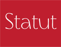 Statut. The Typeface