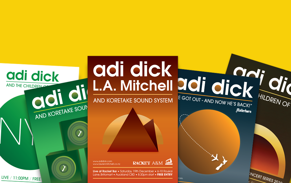 Adi Dick - Tour Posters
