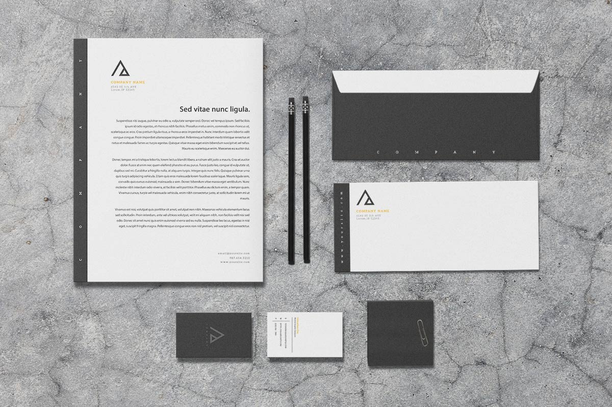 Triad - Stationery Template