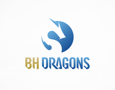 BH DRAGONS Logo Design
