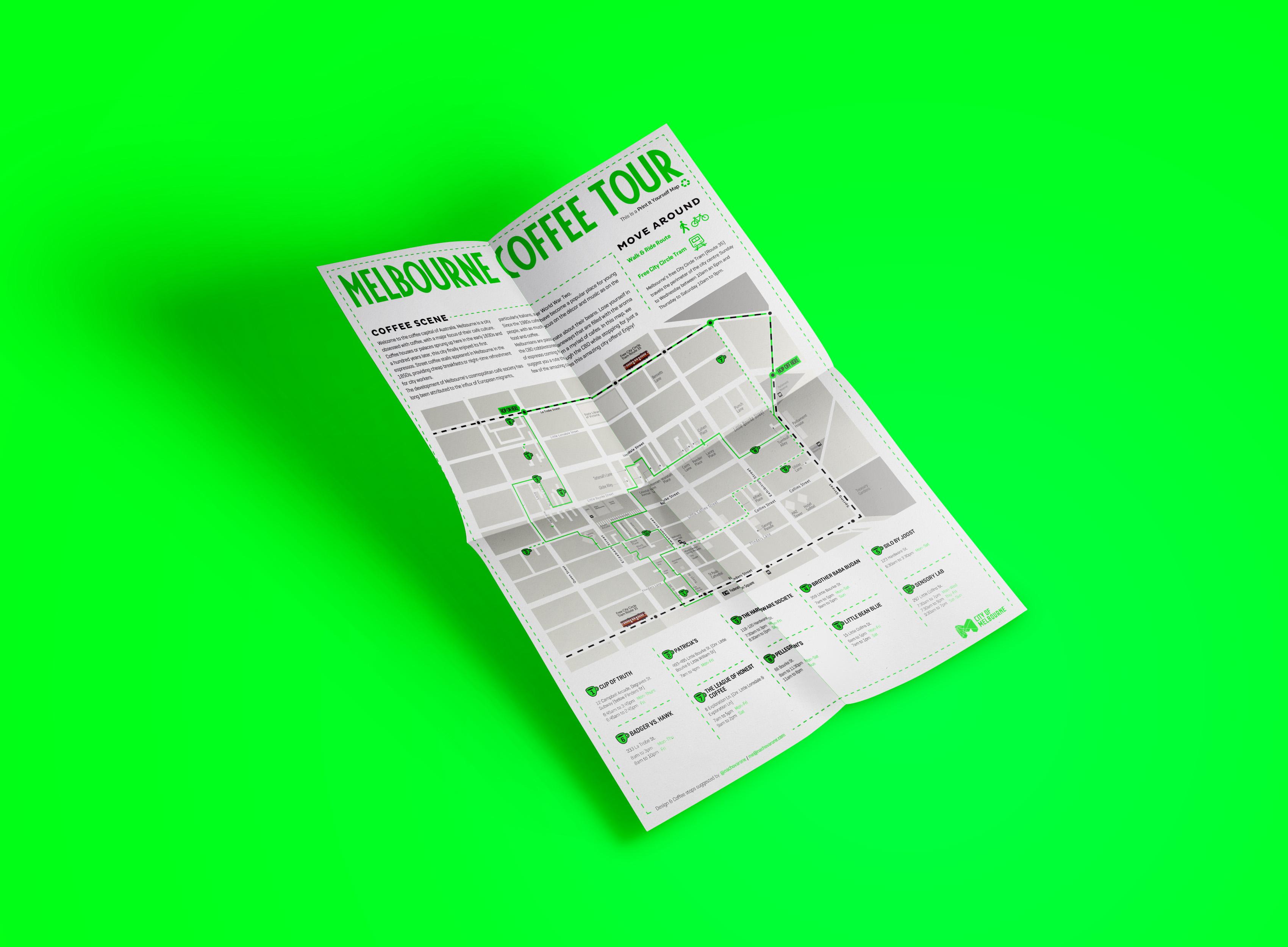 Melbourne Coffee Tour ~ Map Design