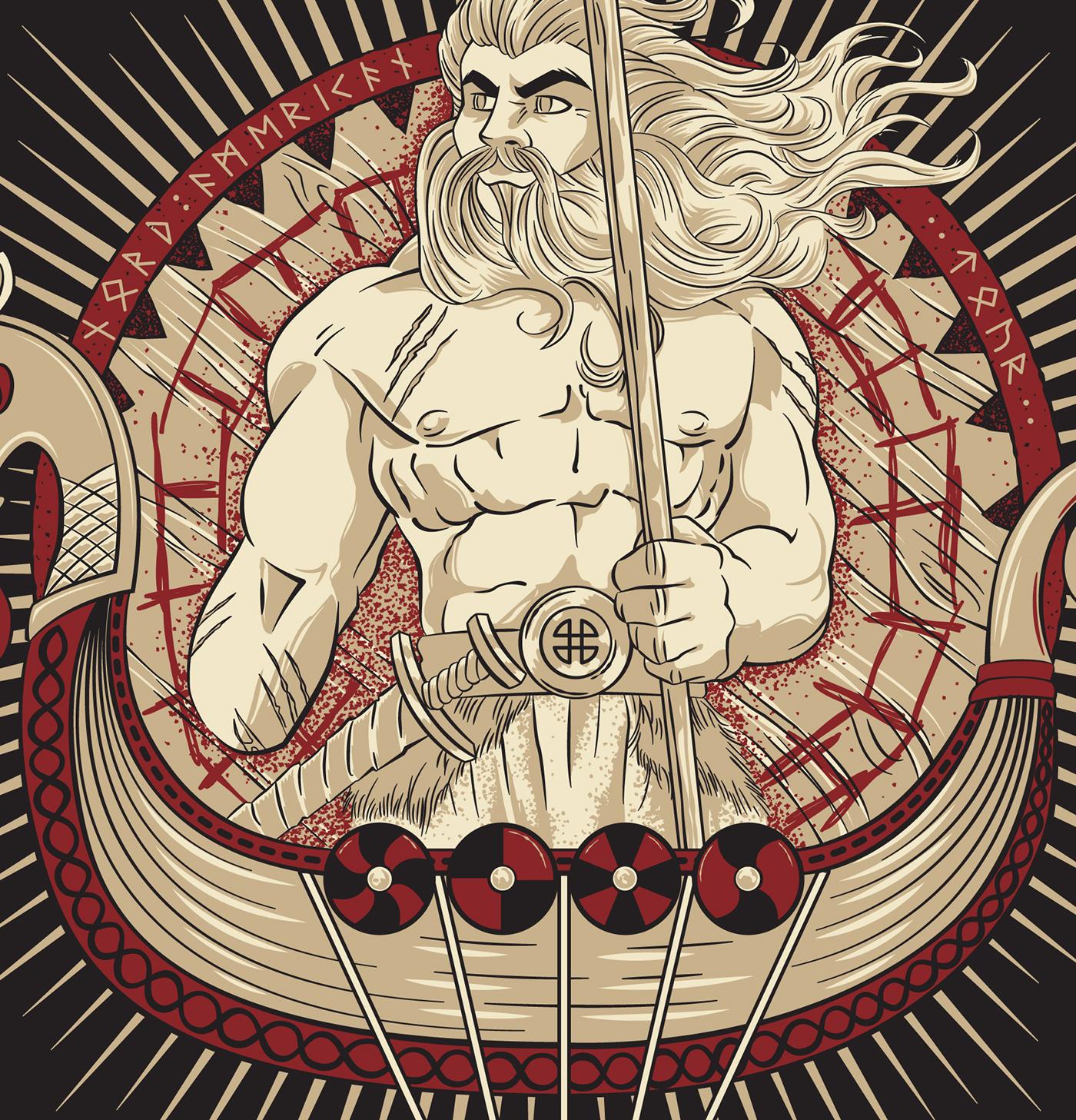 Týr - Vinland Raid 2014 Shirt Designs
