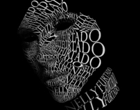 Nelly Furtado Typographic Portrait