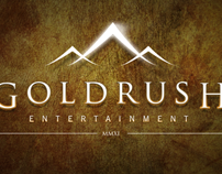 Goldrush Entertainment: Wordmark, Stationery & Website