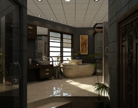 Mr. Ashraf Machiara Residence Master Bath