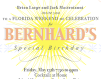 Bernhards Birthday Invitation